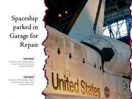 Spaceship Parked In Garage For Repair