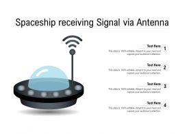 Spaceship Receiving Signal Via Antenna
