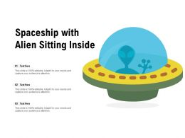 Spaceship With Alien Sitting Inside