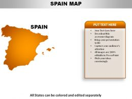 Spain Country Powerpoint Maps