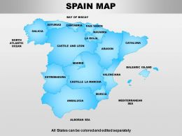 Spain Powerpoint Maps