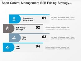 Span Control Management B2b Pricing Strategy Competition Landscape Cpb