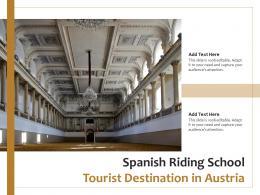 Spanish Riding School Tourist Destination In Austria