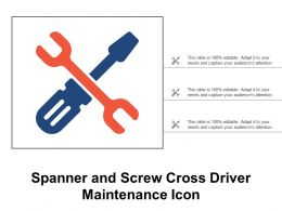 Spanner And Screw Cross Driver Maintenance Icon