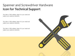Spanner And Screwdriver Hardware Icon For Technical Support