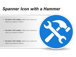 Spanner Icon With A Hammer