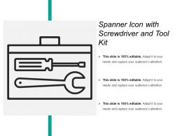 Spanner Icon With Screwdriver And Tool Kit