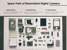 Spare Parts Of Dissembled Digital Camera