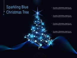Sparkling Blue Christmas Tree
