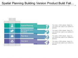 Spatial Planning Building Version Product Build Fall Notification
