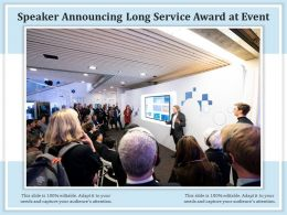 Speaker Announcing Long Service Award At Event