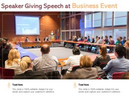 Speaker Giving Speech At Business Event