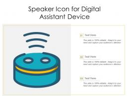 Speaker Icon For Digital Assistant Device