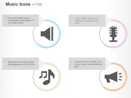 Speaker Mike Music Nodes Loudspeaker Ppt Icons Graphics