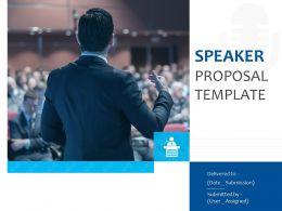 Speaker Proposal Template Powerpoint Presentation Slides