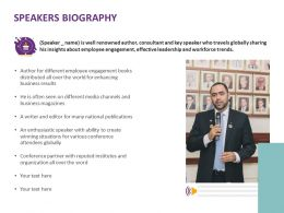 Speakers Biography Business Ppt Powerpoint Presentation Infographic Template Icons