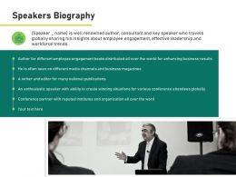 Speakers Biography Leadership Ppt Powerpoint Presentation Visual Aids Portfolio
