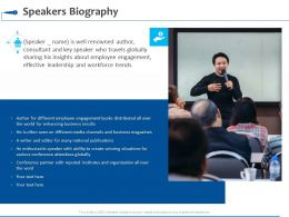 Speakers Biography Ppt Powerpoint Presentation Summary Graphics Download