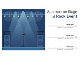 Speakers On Stage At Rock Event