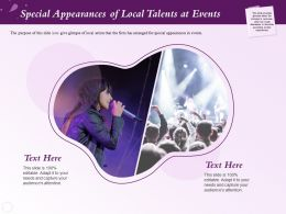 Special Appearances Of Local Talents At Events Local Ppt Powerpoint Presentation Format Ideas