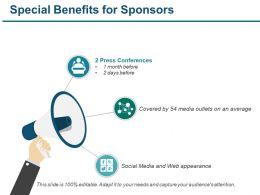 Special Benefits For Sponsors Powerpoint Slide