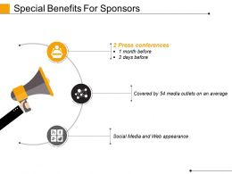 Special Benefits For Sponsors Powerpoint Slide Designs Download