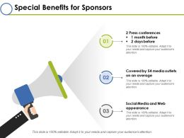 Special Benefits For Sponsors Ppt Layouts Background Images