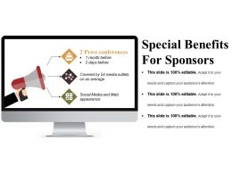 Special Benefits For Sponsors Presentation Portfolio