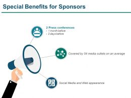 Special Benefits For Sponsors Presentation Powerpoint