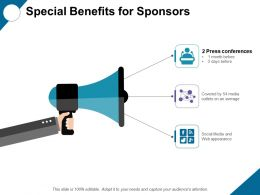 Special Benefits For Sponsors With Social Ppt Professional Grid