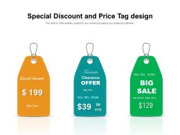 Special Discount And Price Tag Design