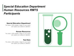 Special Education Department Human Resources Rmts Participants