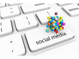 Special Key For Social Media On Keyboard Stock Photo