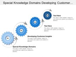 Special Knowledge Domains Developing Customer Insights Customer Service