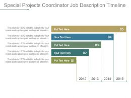 Special Projects Coordinator Job Description Timeline Powerpoint Slide Designs Download