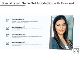 Specialization Name Self Introduction With Ticks And Boxes