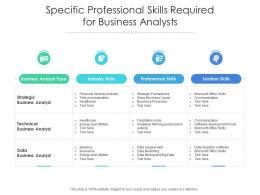 Specific Professional Skills Required For Business Analysts