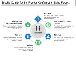 Specific Quality Testing Process Configuration Sales Force Application Economic Forecasting