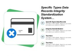 Specific Types Data Records Integrity Standardization System Describe