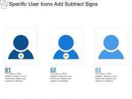 Specific User Icons Add Subtract Signs