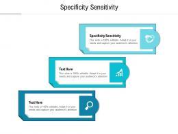 Specificity Sensitivity Ppt Powerpoint Presentation Infographic Template Smartart Cpb