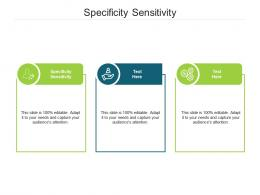 Specificity Sensitivity Ppt Powerpoint Presentation Inspiration Introduction Cpb