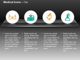 spects_nurse_microscope_flask_medical_analysis_ppt_icons_graphics_Slide01