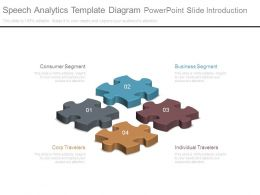 Speech Analytics Template Diagram Powerpoint Slide Introduction