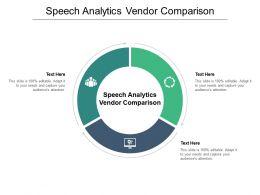 Speech Analytics Vendor Comparison Ppt Powerpoint Presentation Summary Designs Download Cpb