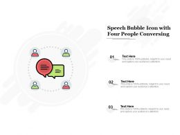 Speech Bubble Icon With Four People Conversing