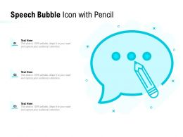Speech Bubble Icon With Pencil
