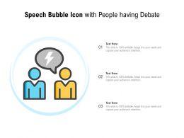 Speech Bubble Icon With People Having Debate