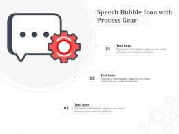 Speech Bubble Icon With Process Gear