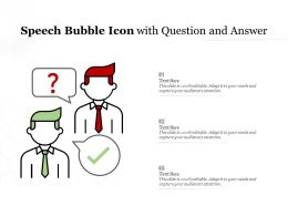 Speech Bubble Icon With Question And Answer